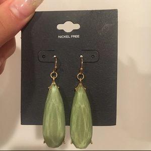 Jewelry - Green Gem Drop Earrings
